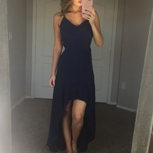 Wayf Navy Maxi Dress Size Small